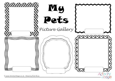About My Pet Worksheet