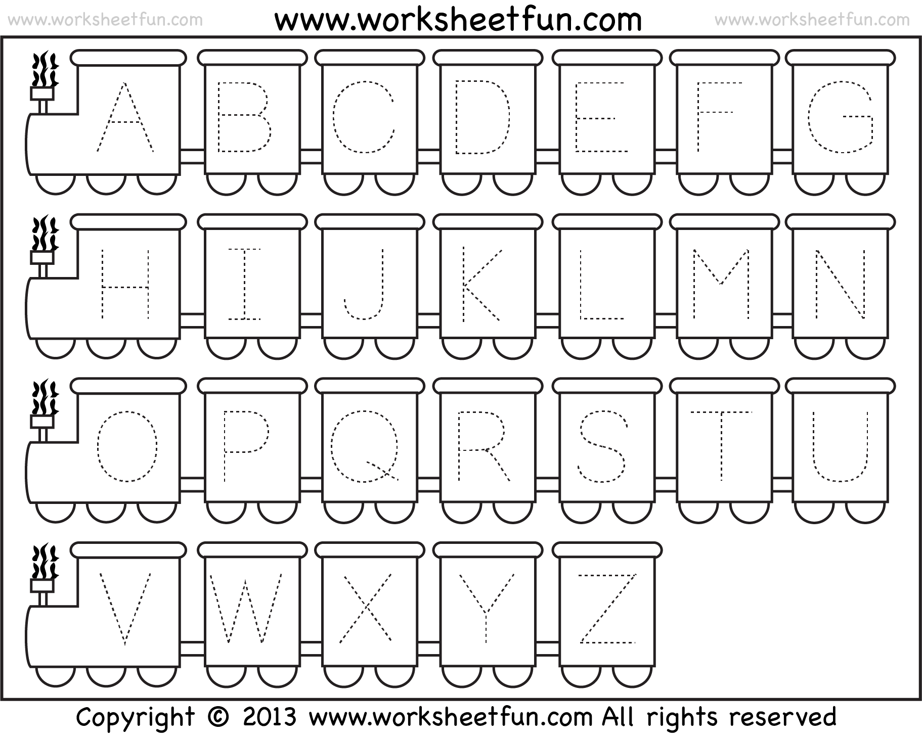 Alphabet Kindergarten Worksheets