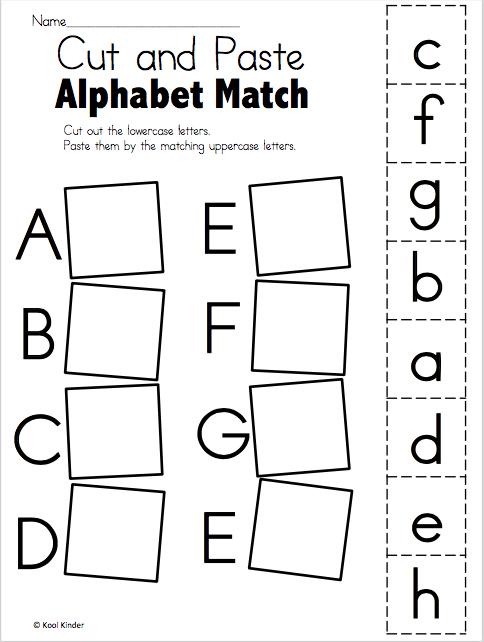 Alphabet Match A To E – Free Worksheets