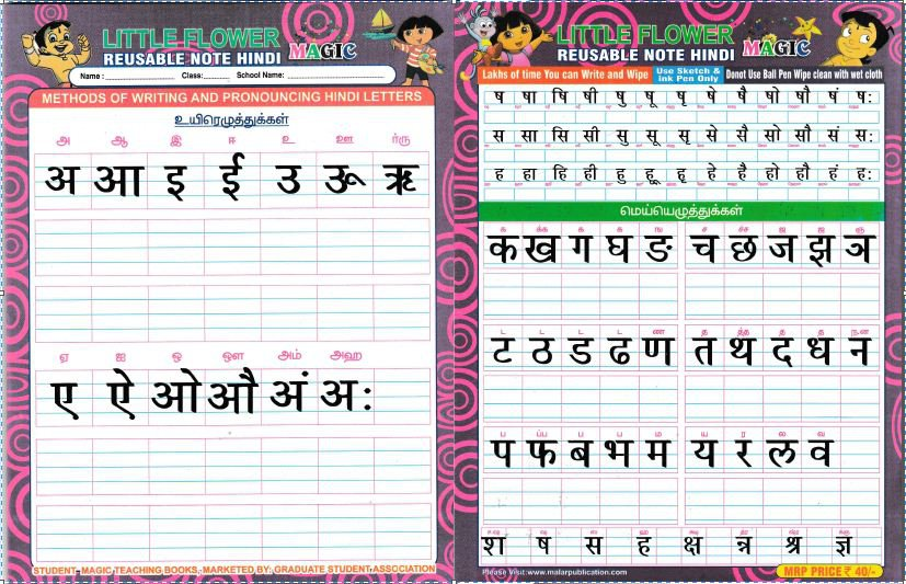 letters in hindi