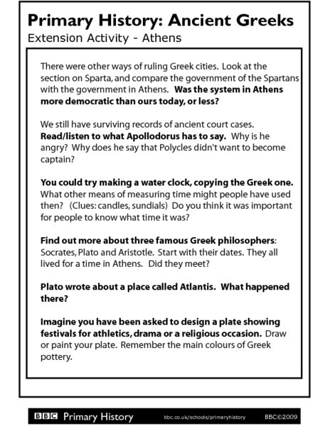 Ancient Greece Worksheet Worksheets For All