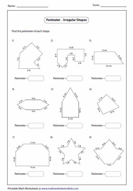 Area Of Irregular Polygons Worksheet Free Worksheets Library