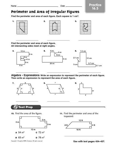 Area Of Irregular Polygons Worksheet Worksheets For All