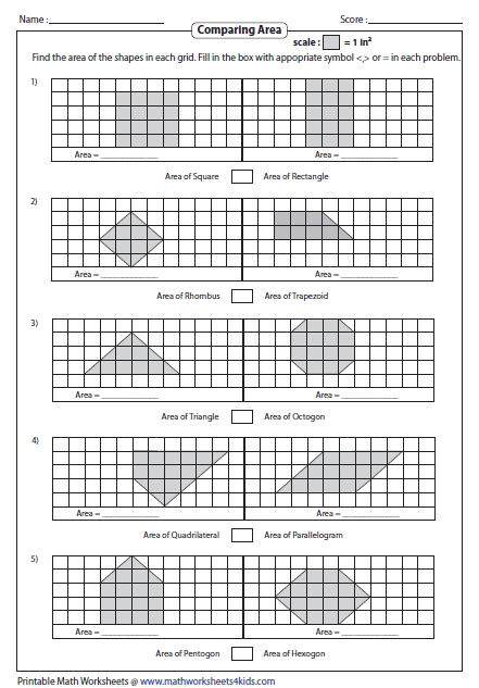 Area Of Polygons Worksheets Free Worksheets Library
