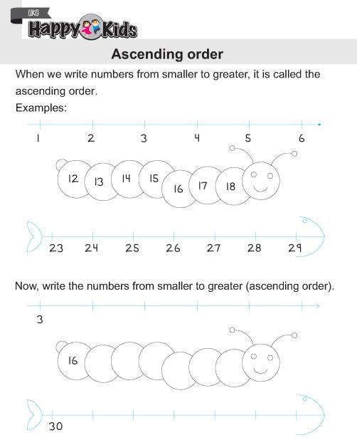 Ascending And Descending Order Worksheets For Kids