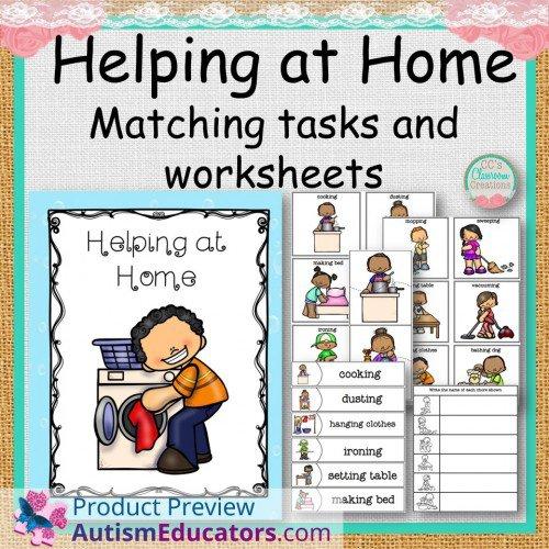 At Home Matching Tasks And Worksheets