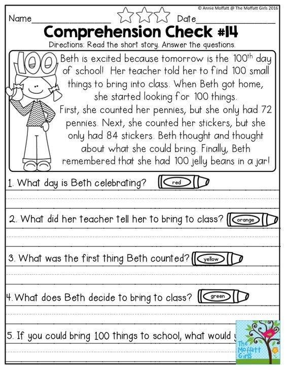 Basic Reading Comprehension Worksheets Worksheets For All