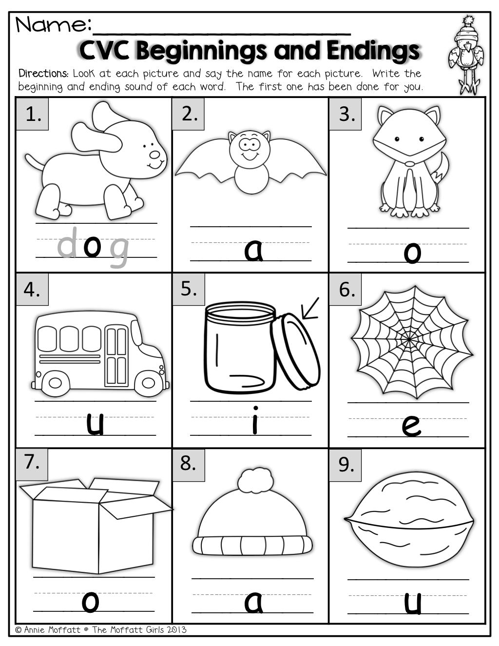 Beginning Sounds Worksheets Kindergarten   Criabooks