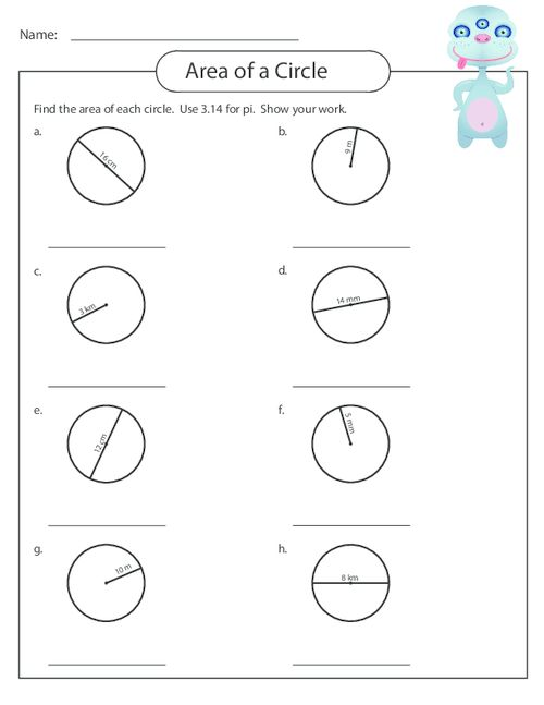 Best 25+ Area Of A Circle Ideas On Free Worksheets Samples