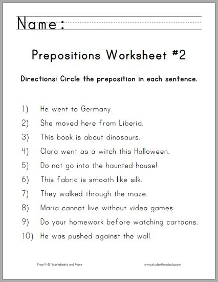 Best 25+ Preposition Activities Ideas On Free Worksheets Samples