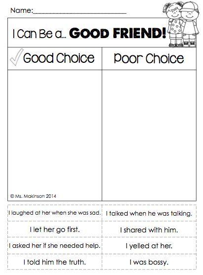 Best 25+ Preschool Friendship Activities Ideas On Free Worksheets Samples