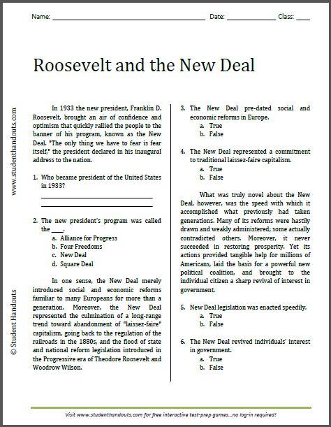 Best 25+ Roosevelt New Deal Ideas On Free Worksheets Samples