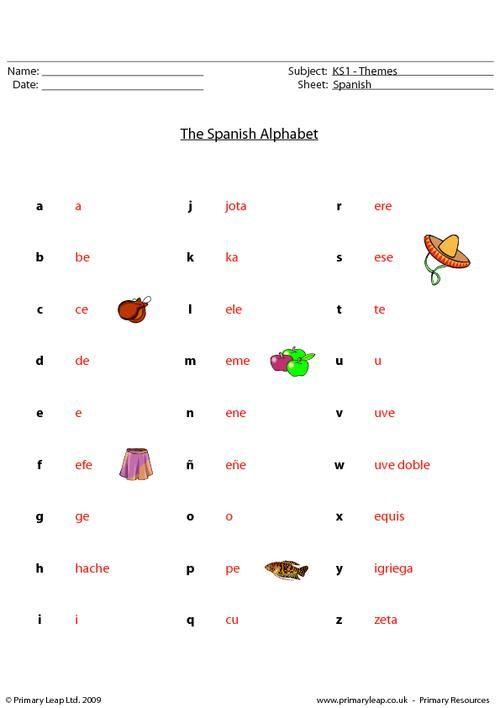 Best 25+ Spanish Alphabet Ideas On Free Worksheets Samples