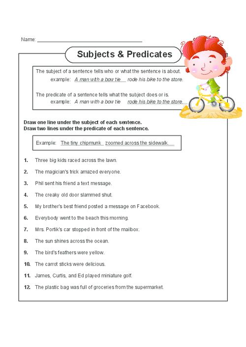 Best 25+ Subject And Predicate Worksheets Ideas On Free Worksheets Samples