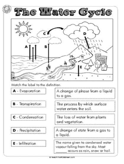 Best 25+ Water Cycle Worksheets Ideas On Free Worksheets Samples