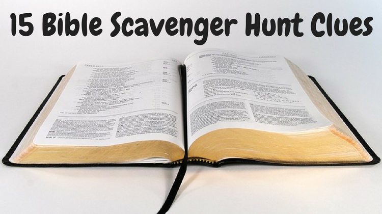 Bible Scavenger Hunt Clues
