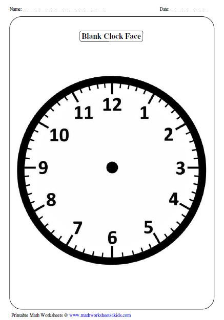 Blank Analog Clock