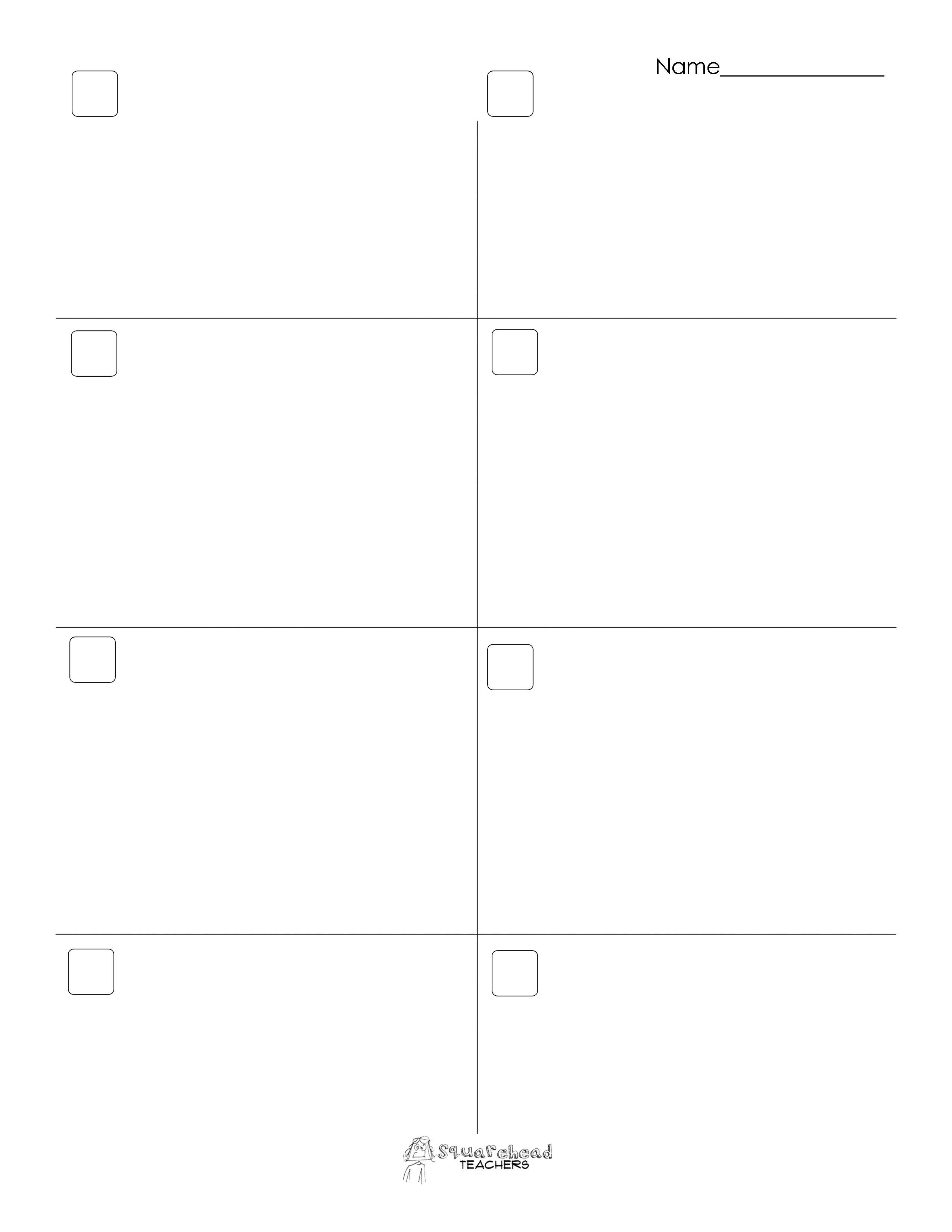 Blank Math Worksheets  Math Worksheets  Stevessundrybooksmags Free