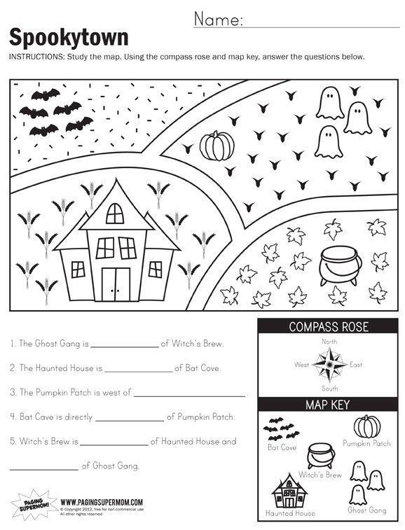 Cardinal Directions Worksheet 1st Grade Worksheets For All