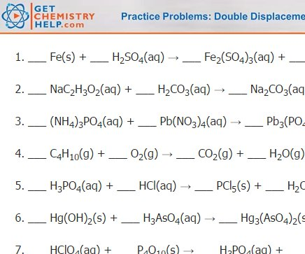 Chemistry Practice Problems  Balancing Chemical Equations