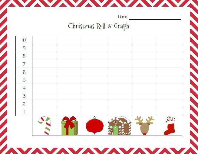 Christmas Roll & Graph Printable Activity