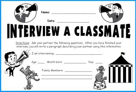 Classmate Interview Megaphone Templates Fun Back To School Lesson