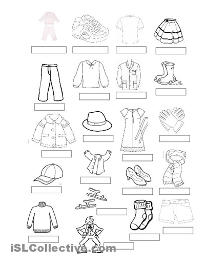 Clothing In Spanish Worksheets Worksheets For All