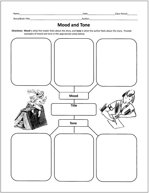 Mood And Tone Worksheets 5th Grade