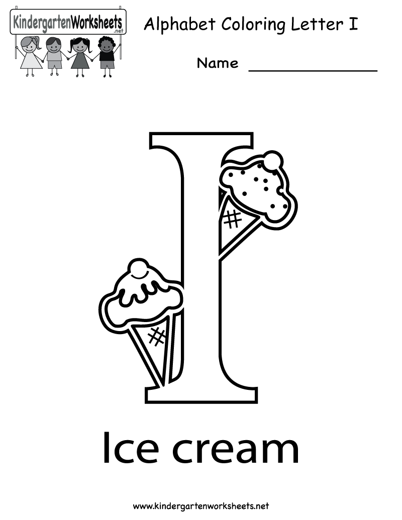 Collection Of Solutions Letter I Worksheets For Kindergarten With