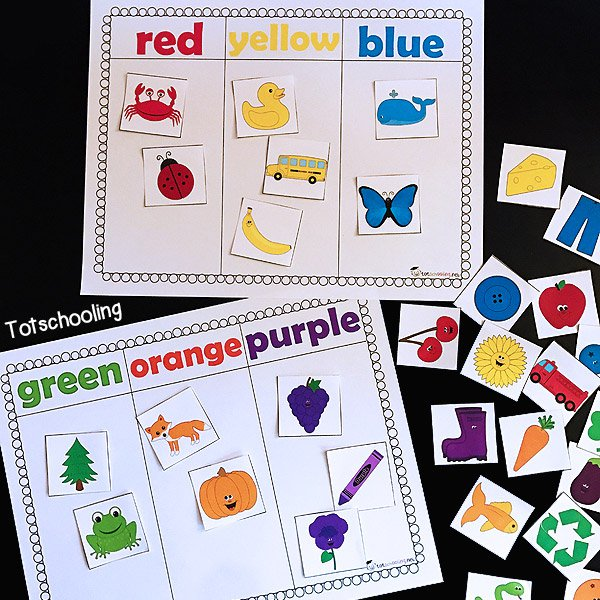 Color Sorting Printable Activity