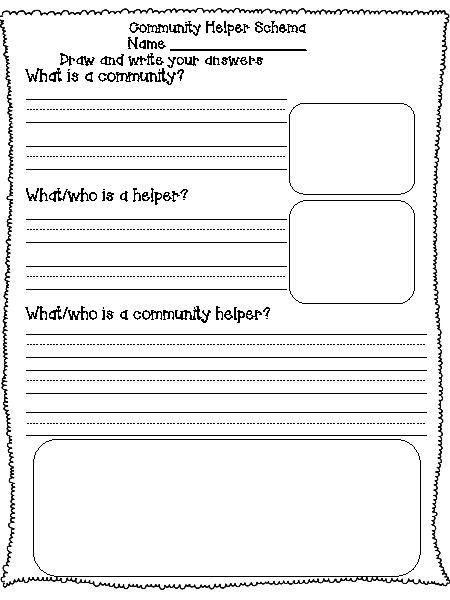Community Worksheets For First Grade