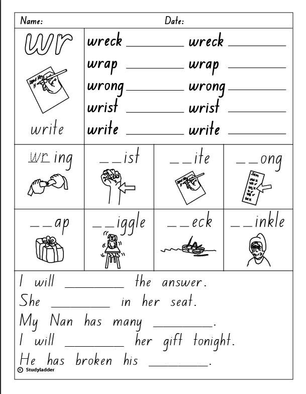 Consonant Digraph  Wr , English Skills Online, Interactive