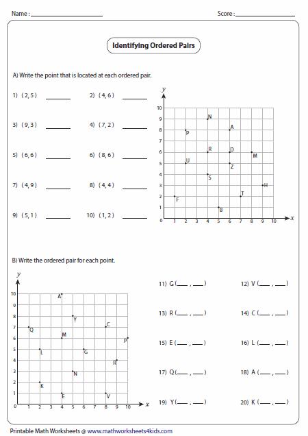 Coordinate Plane Math Worksheets  Math Worksheets