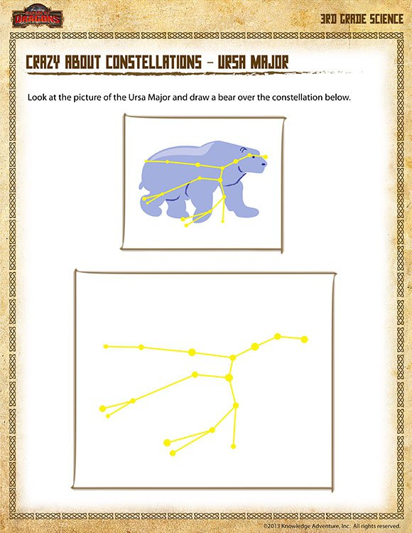Crazy About Constellations –ursa Major– Free 3rd Grade Science