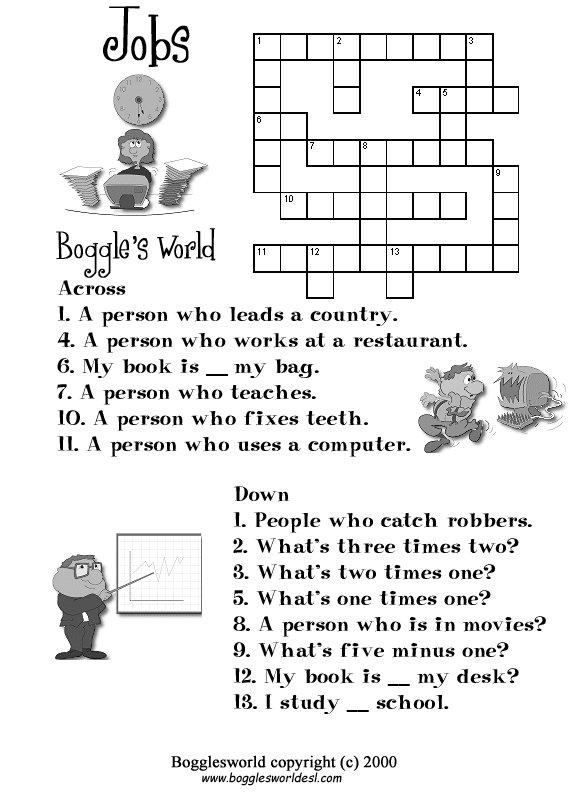 Crosswords For Esl