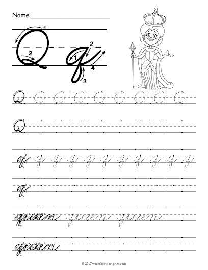 Cursive Q Worksheet