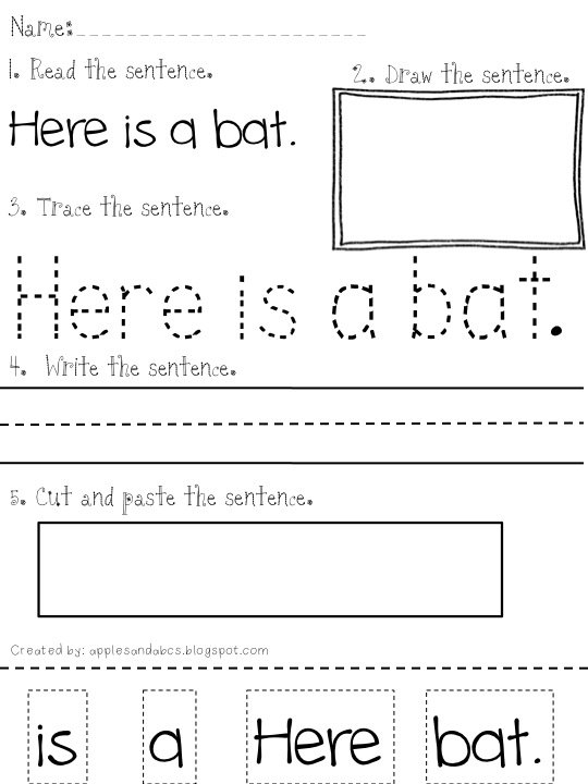 Cut And Paste Sentence Worksheets Free Worksheets Library