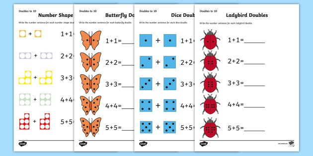 Doubles To 10 Worksheet   Activity Sheets