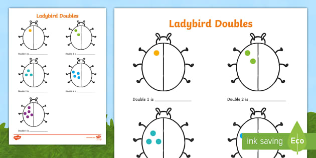 Doubling & Halving Early Years (eyfs), Double, Half