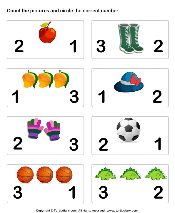 Download And Print Turtle Diary's Count Pictures And Circle