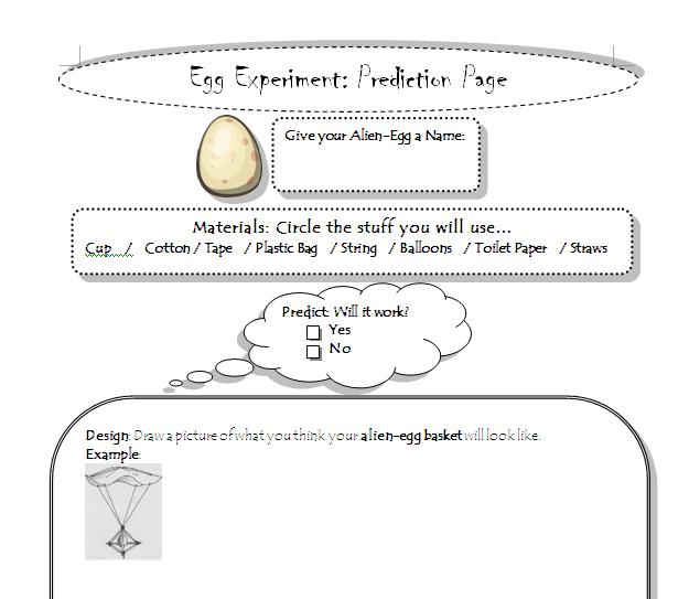 Egg Drop Worksheet