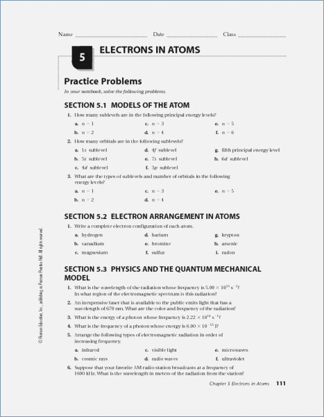 Electrons In Atoms Worksheet Answers – Deltasport Info
