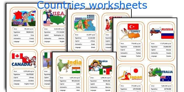 English Teaching Worksheets  Countries