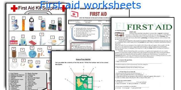 First Aid Printable Worksheets