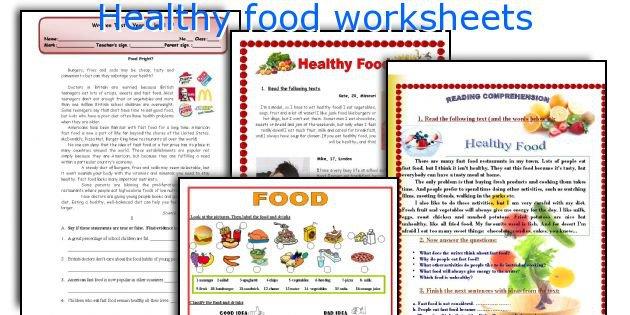 English Teaching Worksheets  Healthy Food