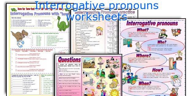 English Teaching Worksheets  Interrogative Pronouns