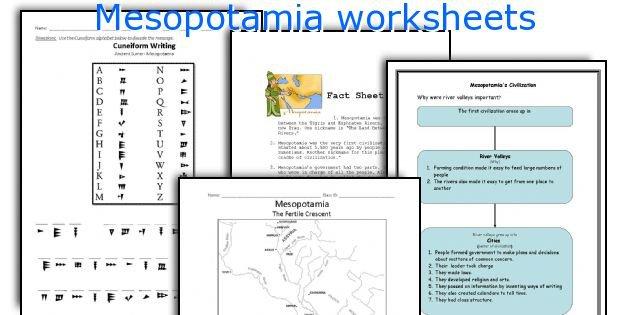 English Teaching Worksheets  Mesopotamia