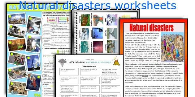 English Teaching Worksheets  Natural Disasters