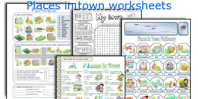 English Teaching Worksheets  Places In Town