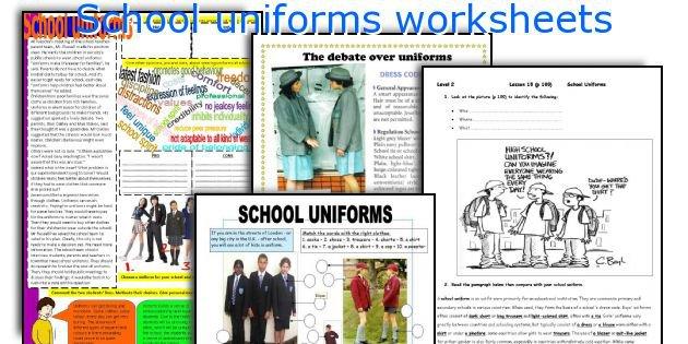 English Teaching Worksheets  School Uniforms